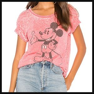 JUNK FOOD | Red Mickey short sleeve burnout tee
